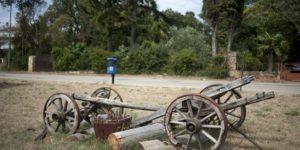 leseni voziček poškodovan