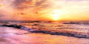 sonce morje veter zahod