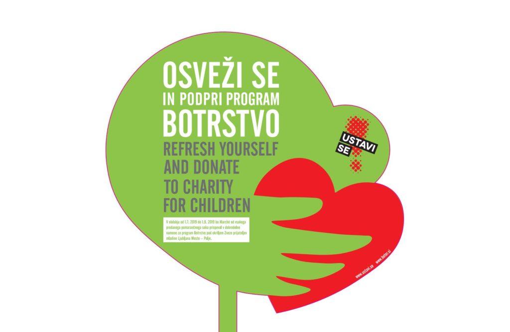 Osveži se in podpri botrstvo - donacija Marche